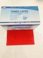 Atemschutzmaske, Maske, Hygienemaske, Einwegmaske, 3 Lagig 50 Stück BOX Rot
