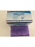 Atemschutzmaske, Maske, Hygienemaske, Einwegmaske, 3 Lagig 50 Stück BOX  Lila