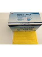Atemschutzmaske, Maske, Hygienemaske, Einwegmaske, 3 Lagig 50 Stück BOX Gelb