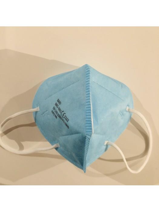 FFP2 Atemschutzmasken mit CE Zertifikat  Made in EU  Blau 100 Stück