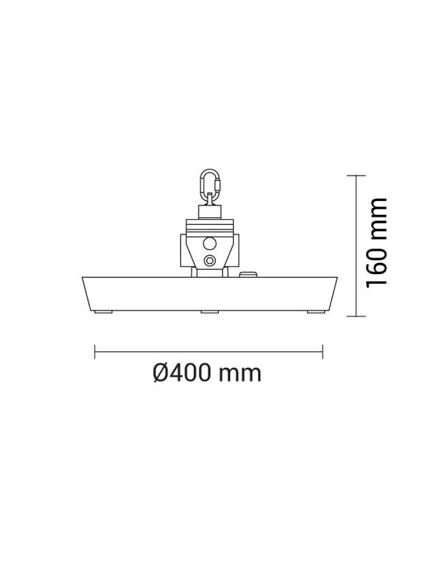 200W LED OSRAM Hallenleuchte 5700K DC-LED