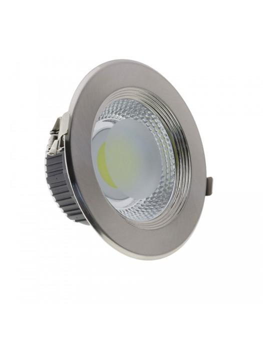 20W LED Einbauleuchte RUND INOX  Kaltweiß 6500K