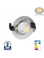 8W LED Einbauleuchte Rund Schwenkbar 2700K Inox