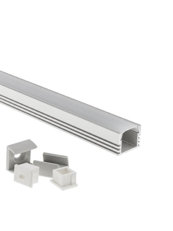 LED Aluminium Profil PDS4 eloxiert 1m SET