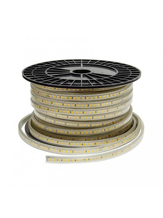 120SMD/m 10W 230V LED Streifen  Wasserdicht Kaltweiß IP44  1m