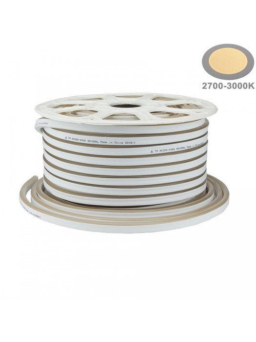 120SMD/m 8,5W 230V LED Flex-Neon  Warmweiß 1m