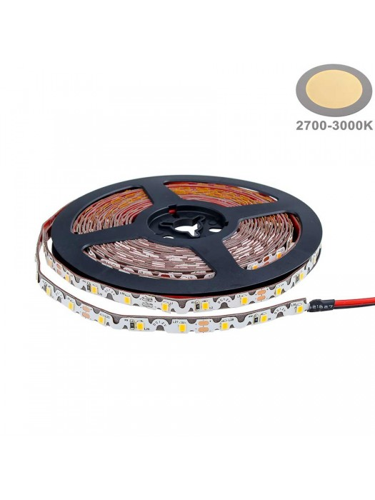 60SMD/m 7,2W 12V LED S-Streifen  5m Warmweiß