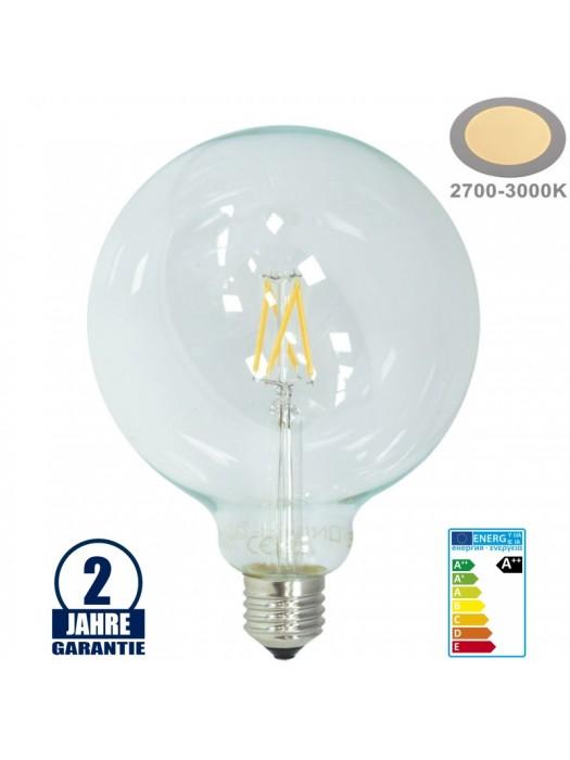 E27 LED G125 6.5W FILAMENT Warmweiß