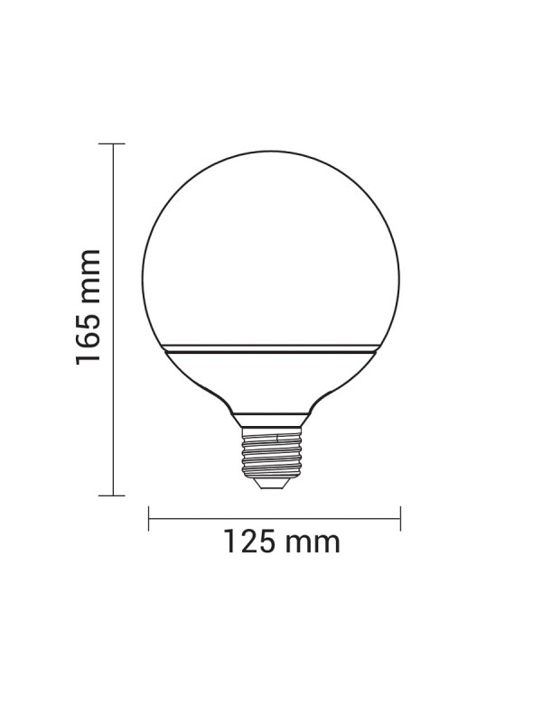 E27 LED G125 6.5W  FILAMENT Neutralweiß