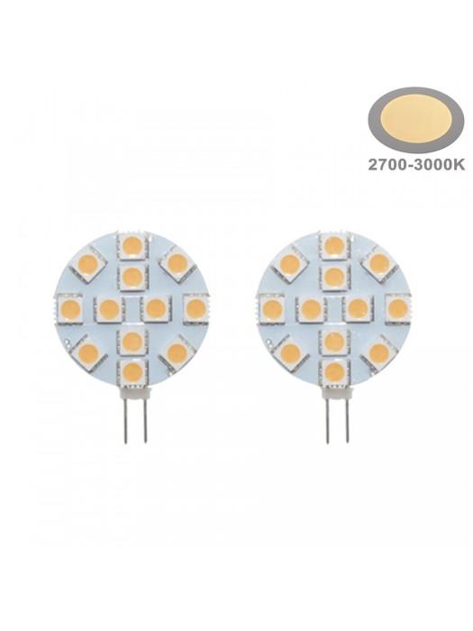 2,4W LED G4  Warmweiß 2700K  2er Pack